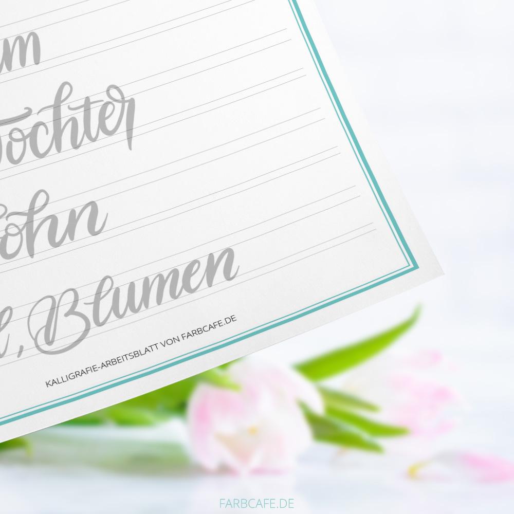 Lettering Übungsbogen \
