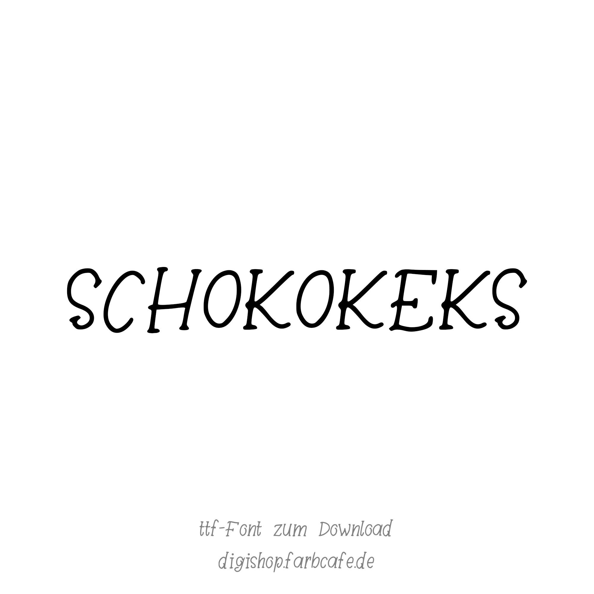 Schokokeks Handschrift-Font von Farbcafe.de