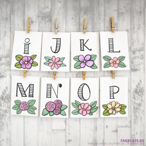 Monogramme für's Kinderzimmer zum Selbstausdrucken / Druckvorlage