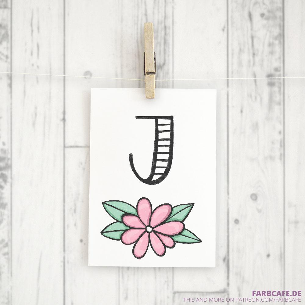 Monogramm J Druckvorlage