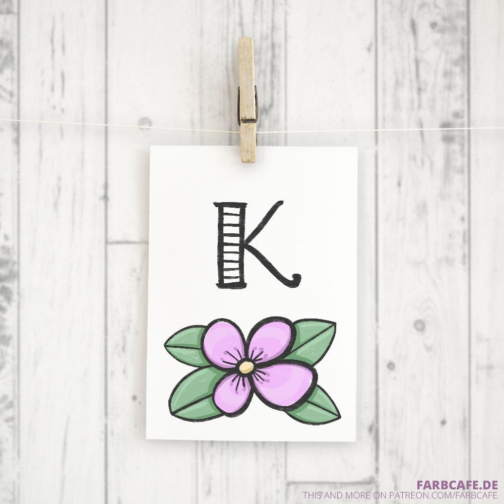Monogramm K Druckvorlage