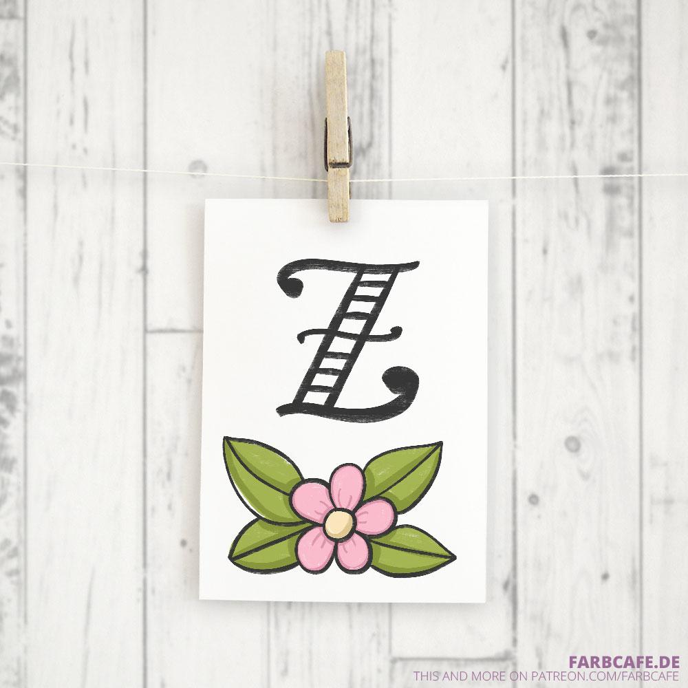 Monogramm Z Druckvorlage